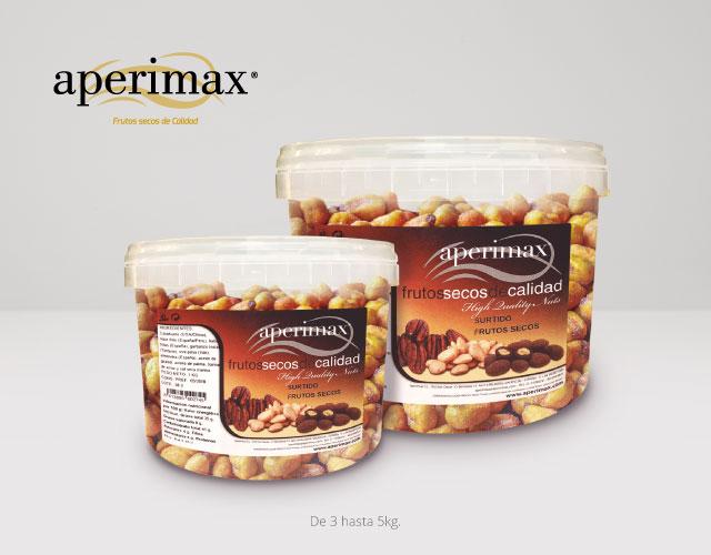 Envase plastico cubo horeca | Aperimax, frutos secos de calidad