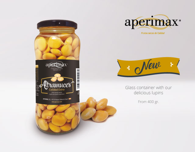 Envase cristal Altramuces inglés | Aperimax, frutos secos de calidad