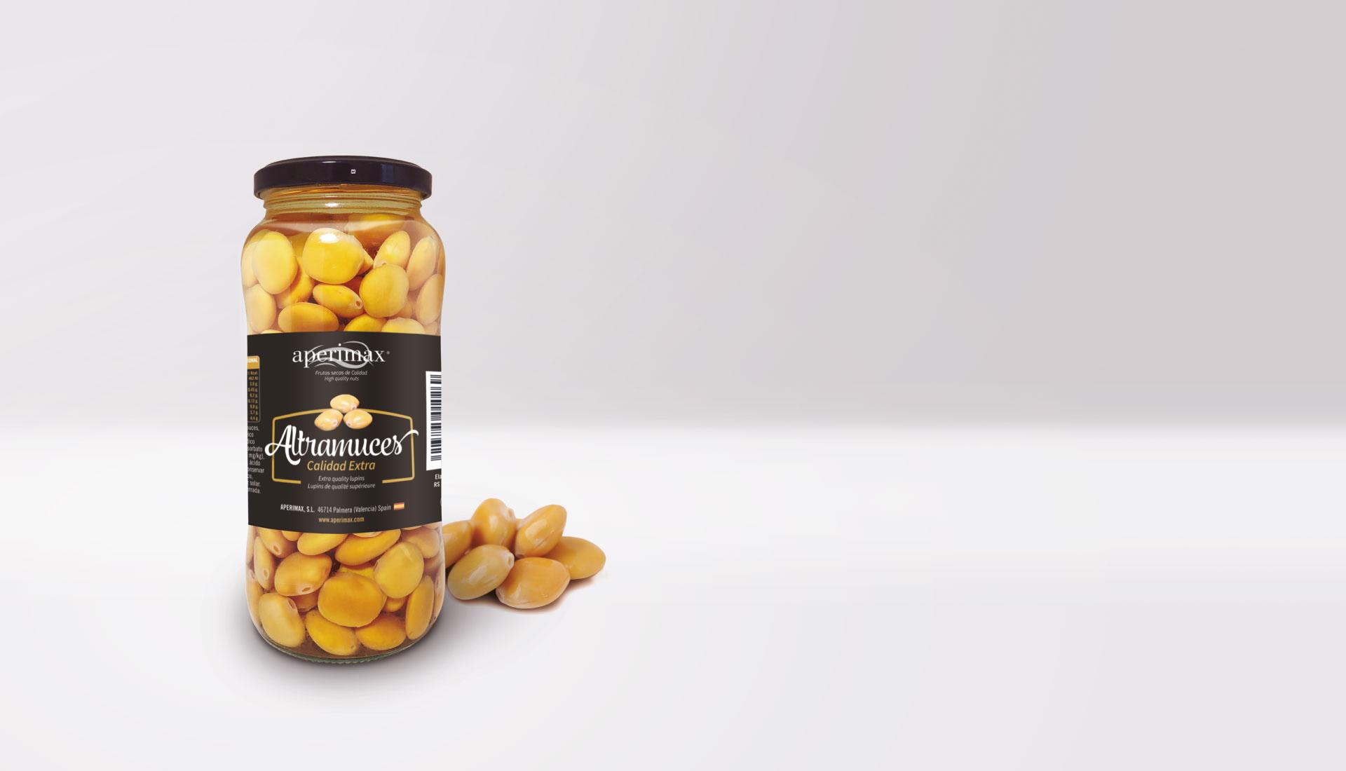 Nuevo envase Altramuces | Aperimax, frutos secos de calidad